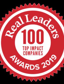 Real Leaders 100 Top Impact Companies Award 2019